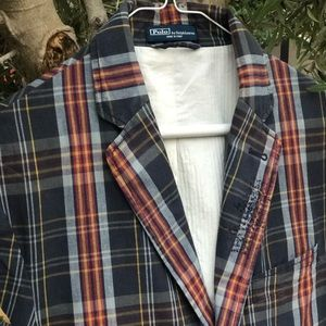 Distressed PRL Sport Coat, 100% Cotton, Size 40R